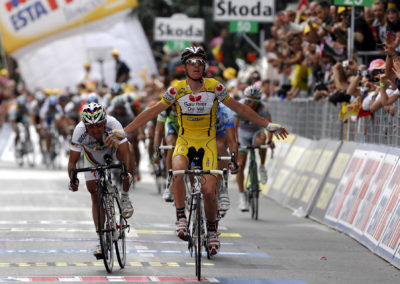 © Sirotti - 2008, Giro d'Italia, tappa 08 Rivisondoli - Tivoli, Saunier Duval, Quick Step, Riccò Riccardo, Bettini Paolo, Tivoli