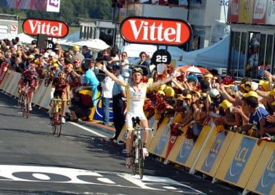 © Sirotti - 2008, Tour de France, tappa 06 Aigurande - Super Besse, Saunier Duval, Caisse d'Epargne, Silence - Lotto, Riccò Riccardo, Valverde Alejandro, Evans Cadel, Super Besse