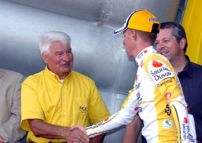 © Sirotti - 2008, Tour de France, tappa 06 Aigurande - Super Besse, Saunier Duval, Riccò Riccardo, Poulidor Raymond, Super Besse