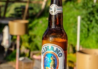 La célèbre Hinano, boisson locale par excellence. À boire avec modération !