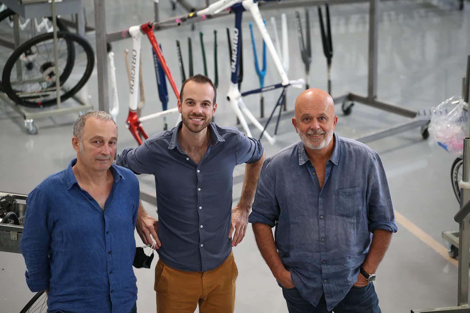 Les fondateurs d'Origine Yves Amiel, Rémi Lefèvre et Pierre-Henri Morel. (Photo Vélo Vert)