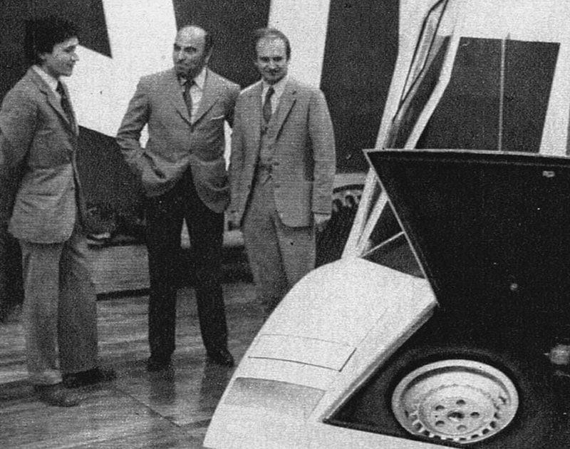 Marcello Gandini, Nuccio Bertone et Paolo Stanzani.