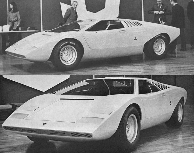 10 ans jour pour jours après la Type E, la Countach crée l'évènement au salon de Genève. Toujours un mythe, 50 ans après...