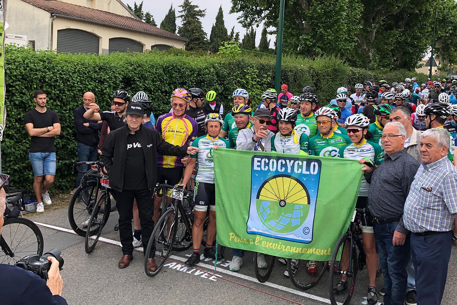 Départ de la Granfondo Luberon Top Vélo Mormoiron, c'était en 2019. L'édition 2020 et l'édition 2021 sont annulées...
