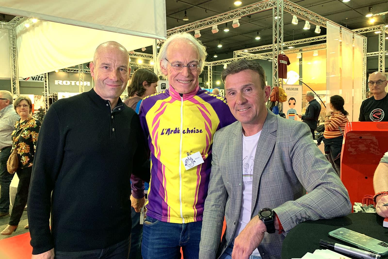 Ici aux côtés de Jean-Christophe Rattel et Johan Musseuw, Gérard Mistler vient d'annoncer l'annulation de l'Ardéchoise pour 2021.