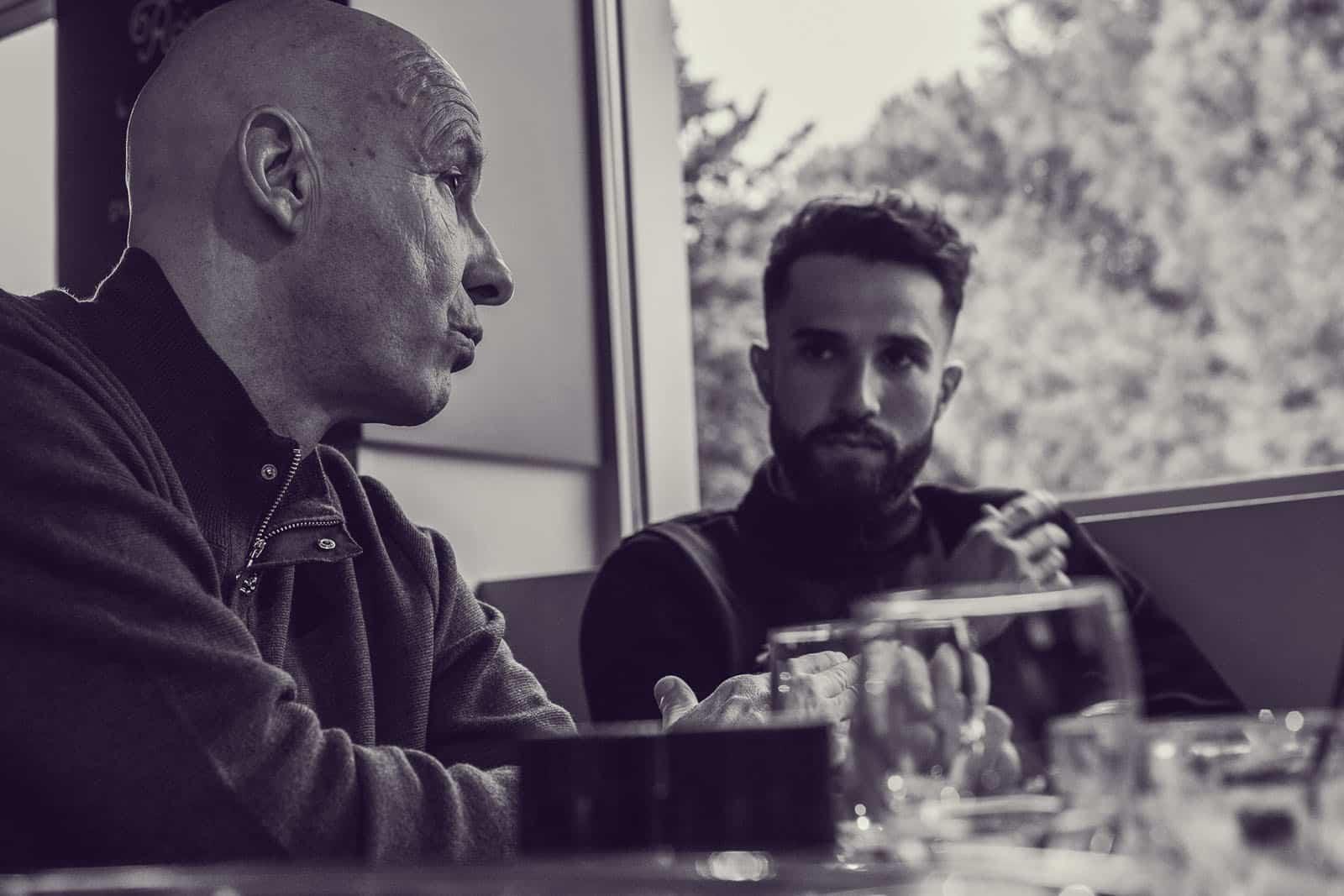 Nacer Bouhanni et Jean Christophe Rattel - Photo Joel Lombard @le_jowman