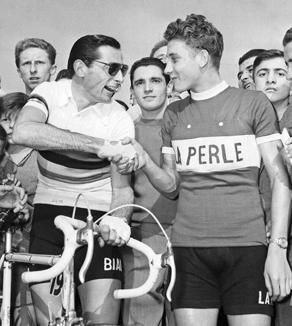 Coppi et Anquetil en 1953